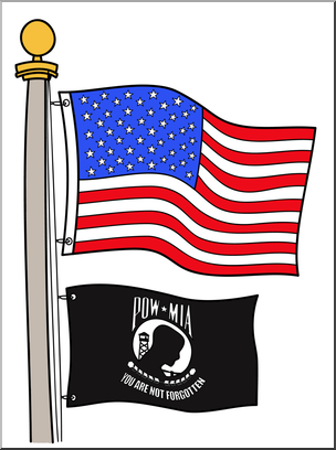 304x408 Clip Art Memorial Day POWMIA Flag Color 2 I abcteach