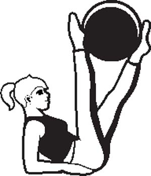 300x350 Fitness Black And White Clipart