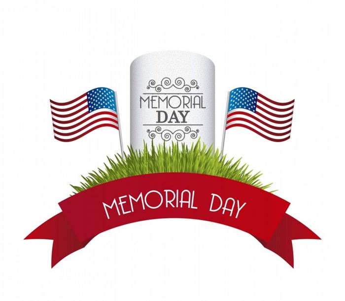 700x610 Memorial Day Black And White Clipart
