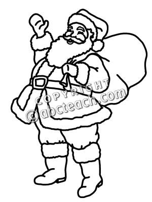 300x400 Santa Clipart Black And White Many Interesting Cliparts