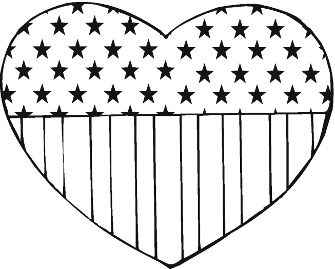 653x525 Usa Flag In Heart Shape Crafts Usa Flag, Heart