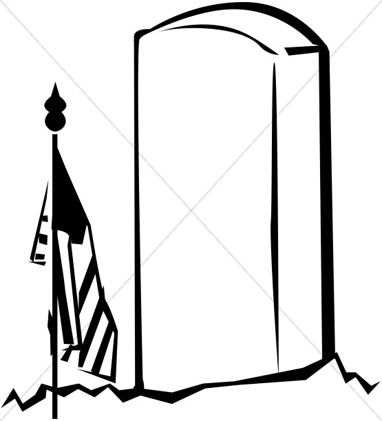 555x612 Gravestone Memorial Day Clipart