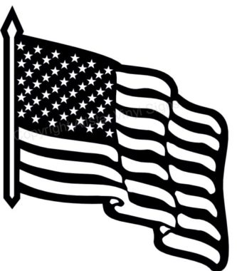 333x380 Black White Memorial Day Flag Clipart Flag Day Clipart Black