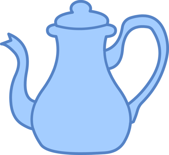 550x503 Blue Tea Kettle Clipart