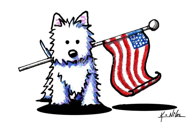 650x434 Patriotic Usa Westie By Kim Niles