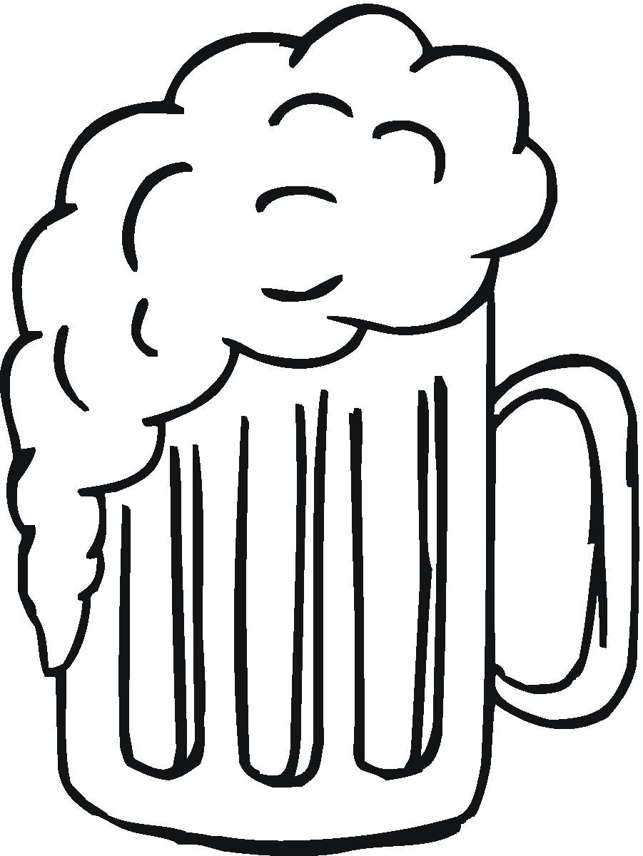 901x1200 Beer Mug Black And White Clipart Kid 3