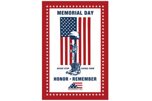 300x200 Free Memorial Day Window Flag Decal