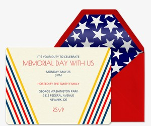 300x250 Memorial Day Free Online Invitations