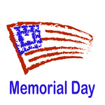 150x150 Memorial Day Poster With Waving Usa Flag Royalty Free Vector Clip