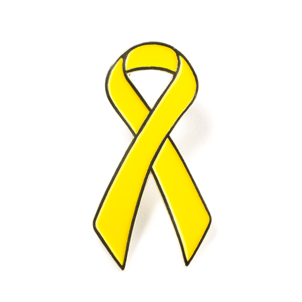 1000x1000 Childhood Cancer Awareness Pin