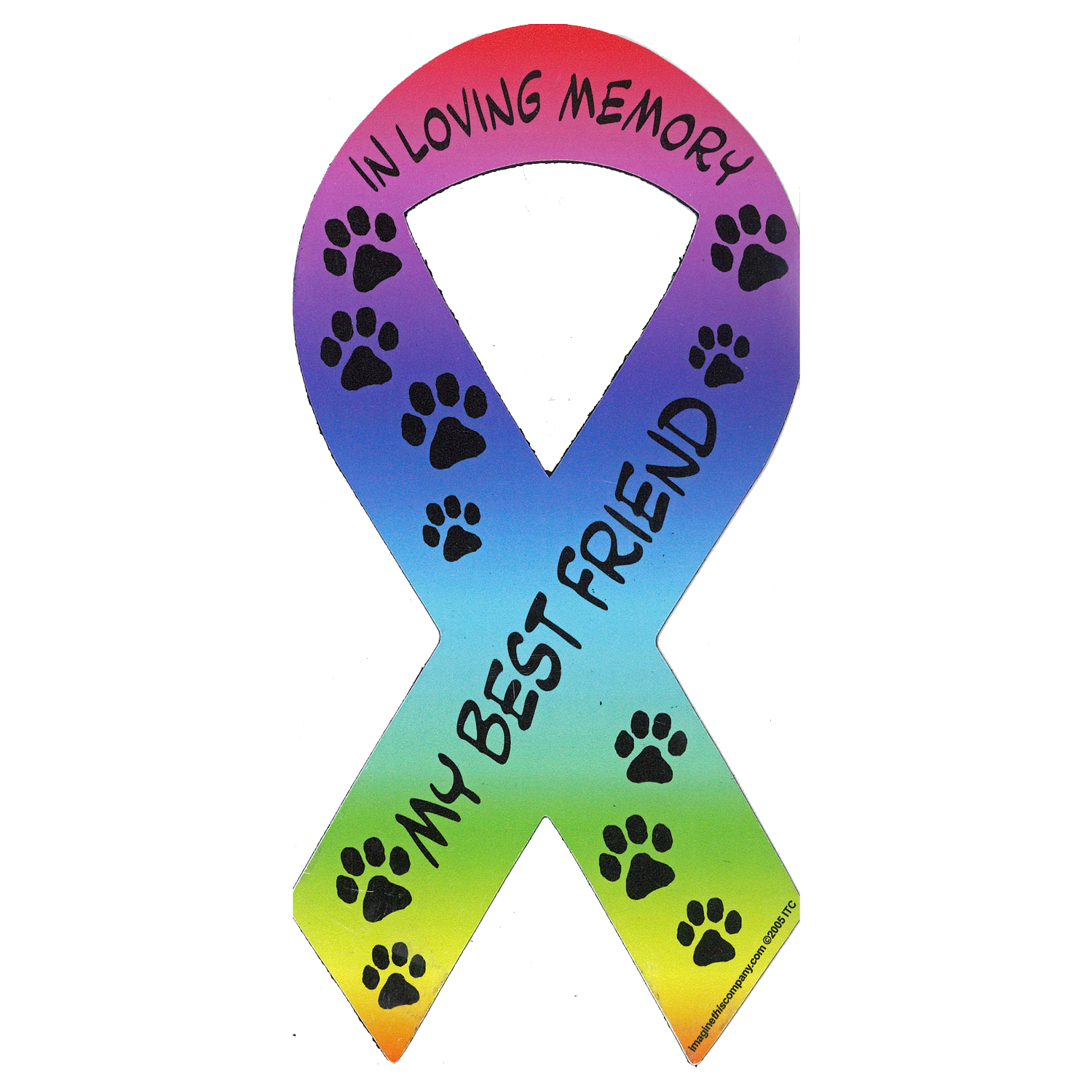 1500x1500 Memorial Ribbon, Rainbow (Car Magnet) Part Of The Family Pmc