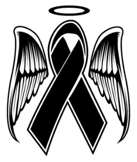 280x330 Memorial Ribbon Decal Sticker