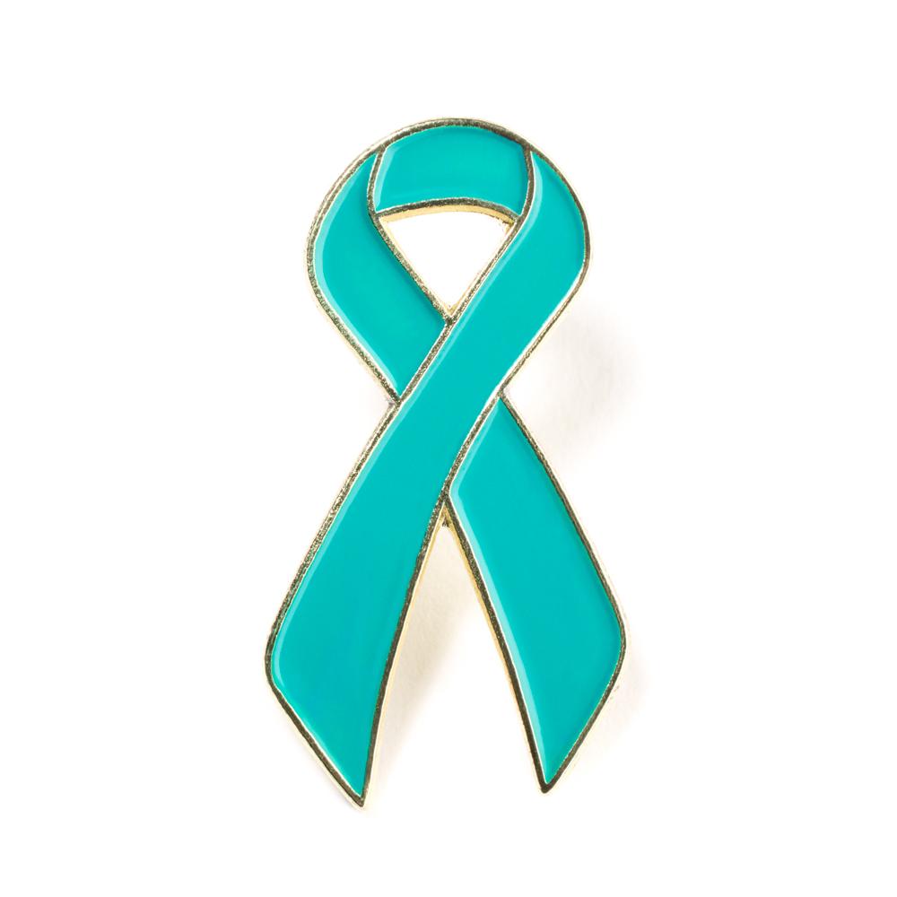 1000x1000 Ovarian Cancer Awareness Lapel Pin