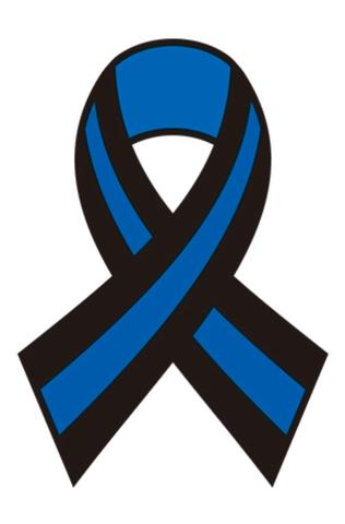 316x480 Thin Blue Line Ribbon Decal 3x2 Memorial Sticker The Thin Blue