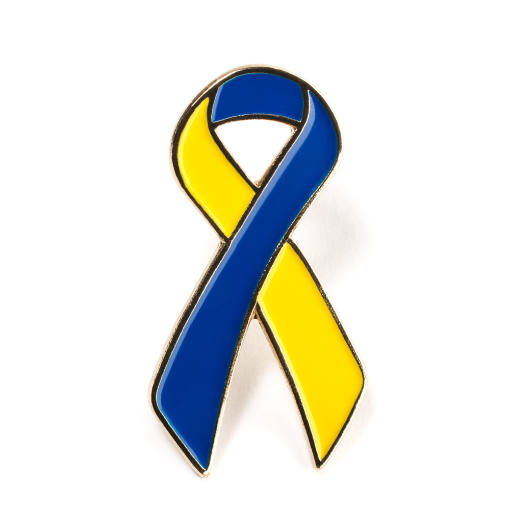 1000x1000 Yellow Blue Ribbon Lapel Pin
