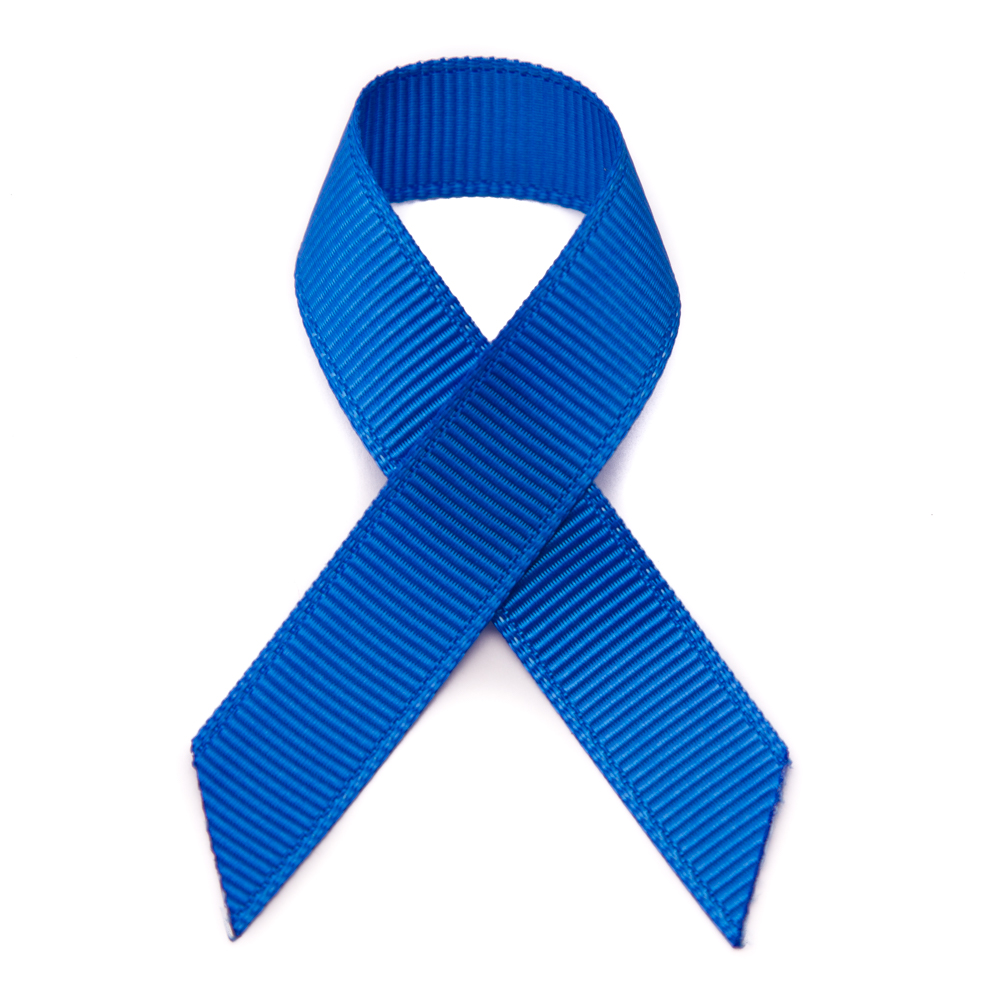 1000x1000 Grosgrain Stick On Blue Awareness Ribbons Pre Made