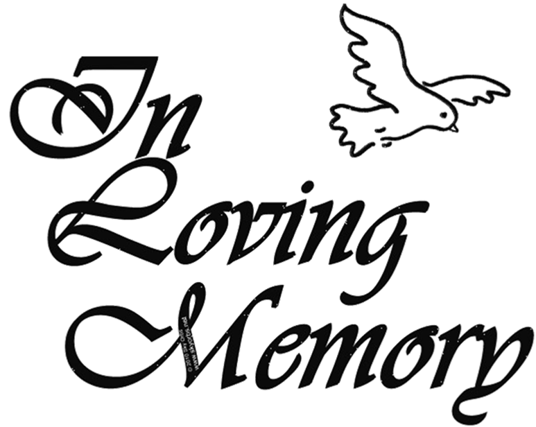 773x616 In Loving Memory Clipart