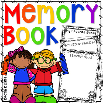 350x350 End Of The Year Memory Book For Preschool, Pre K, And Kindergarten