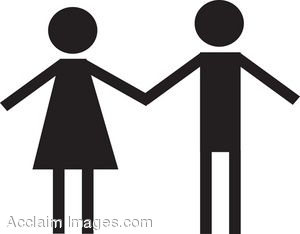 300x234 Clip Art Of A Male And Female Shapes