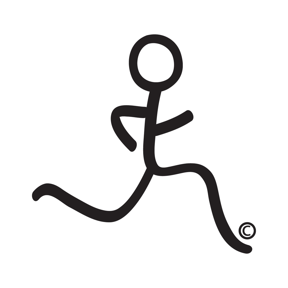 1000x1000 Girl Stick Figure Running Clipart Panda