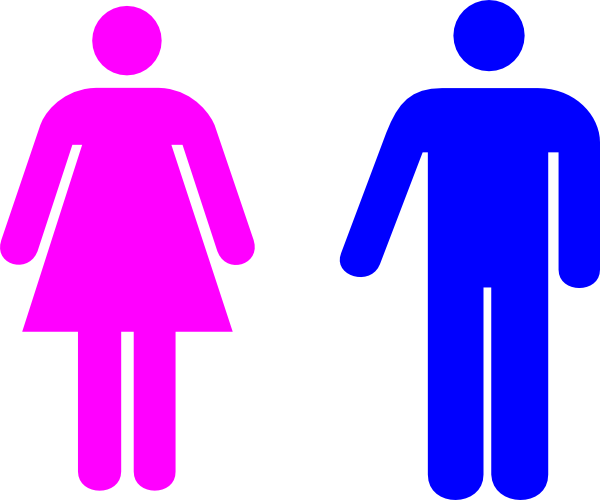 600x500 Man And Woman (Heterosexual) Icon Clip Art
