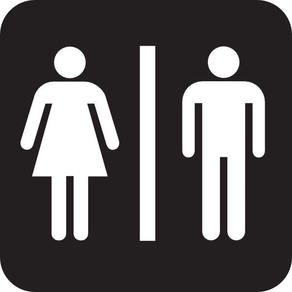 600x600 Men Women Bathroom 2 Clip Art