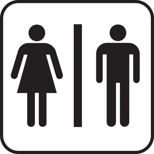 600x600 Men Women Bathroom Clip Art
