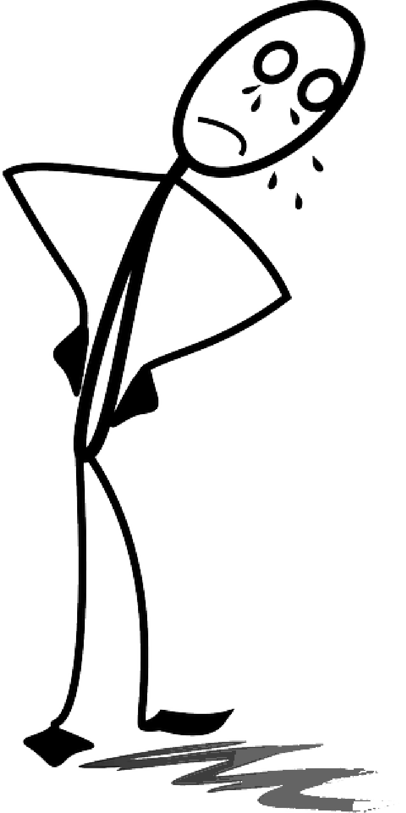 800x1600 Sad Girl Stick Figure Clipart Panda