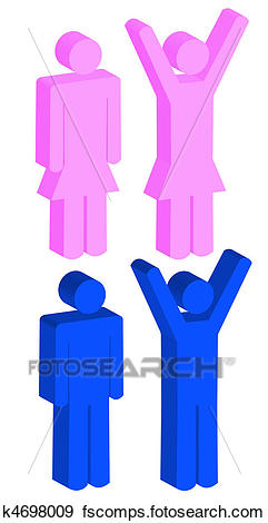 241x470 Stock Illustration Of 3d Stick Figures Of Men And Women K4698009