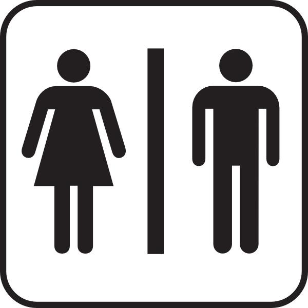 600x600 Men Women Bathroom Clip Art Free Vector In Open Office Drawing Svg