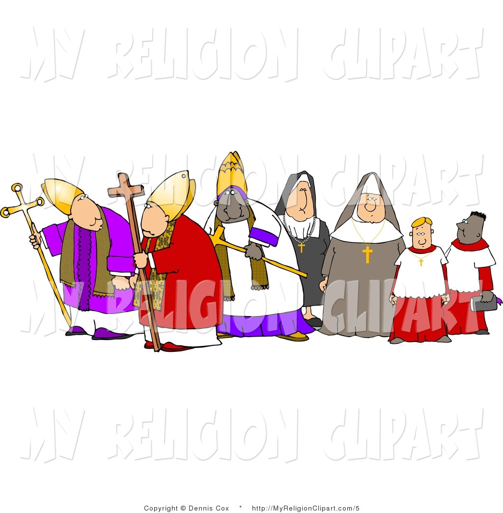 1024x1044 Religion Clip Art Of Church Nuns And Clergy Men By Djart