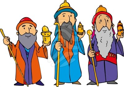 400x283 Three Wise Men Clipart