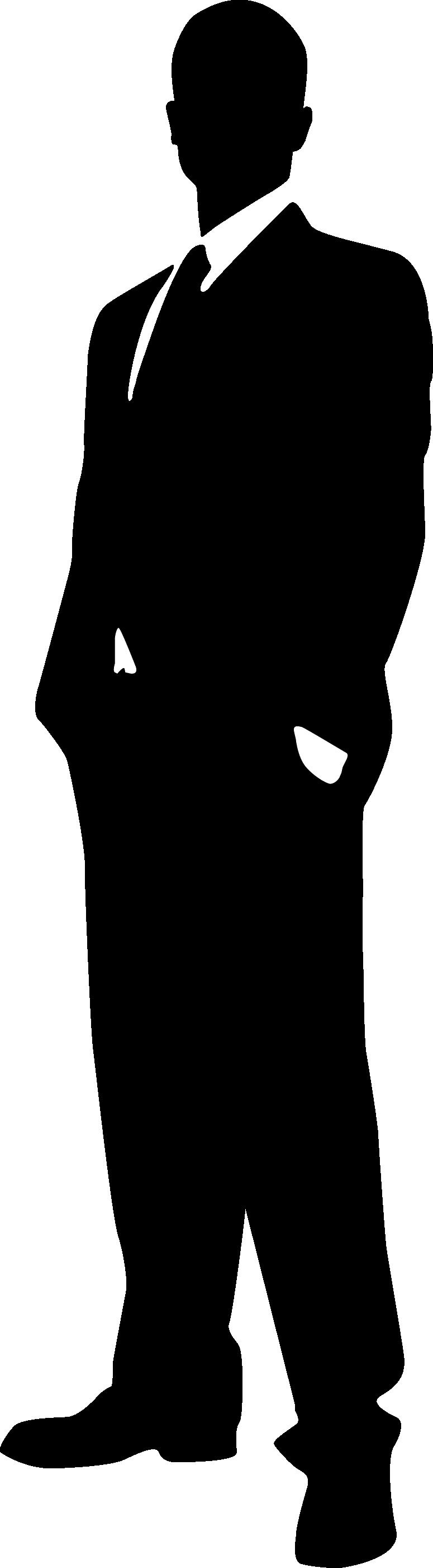 775x2800 Clipart Silhouette Man