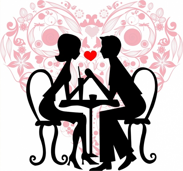 600x559 Couple Silhouette Free Vector Download (5,740 Free Vector)