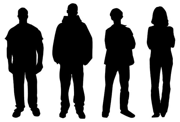 625x424 Silhouette Figures Clip Art