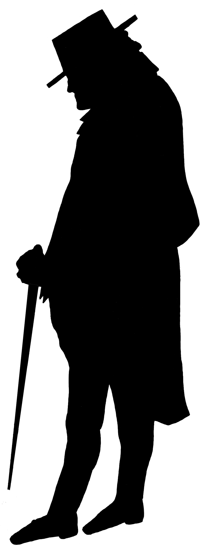 827x2172 Victorian Silhouette Clipart