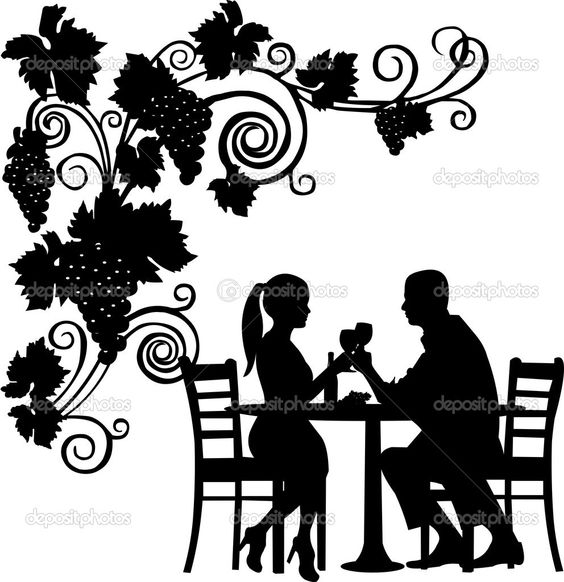 564x582 And Men Silhouette Toasting Clipart