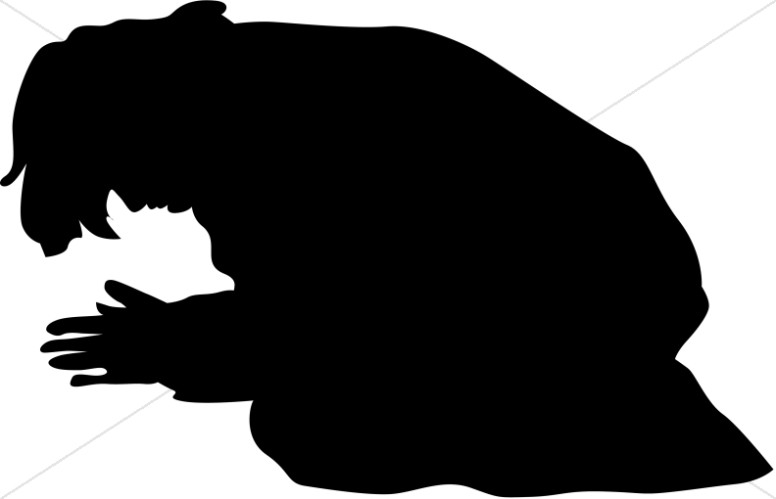 776x499 Praying Men Silhouette Clipart