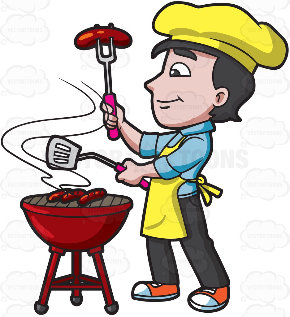937x1024 Men Roasting Barbecue Grill Clipart, Explore Pictures