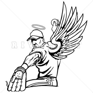 361x361 Mascot Clip Art Image Of A Men's Angels Basketball Player Http