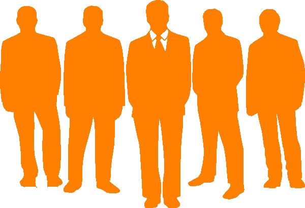 600x410 Men In Orange Clip Art