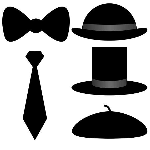 570x570 Mens Accessories Clip Art Set 20 Designs. Instant Download