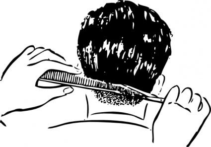425x296 Mens Hair Brush Clipart