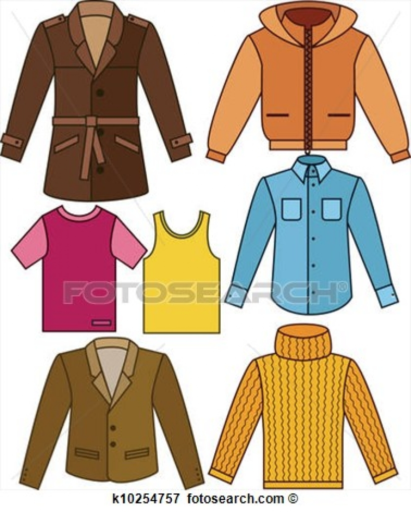 823x1024 Clip Art Of Mens Clothing Collection K10254757 Search Clipart