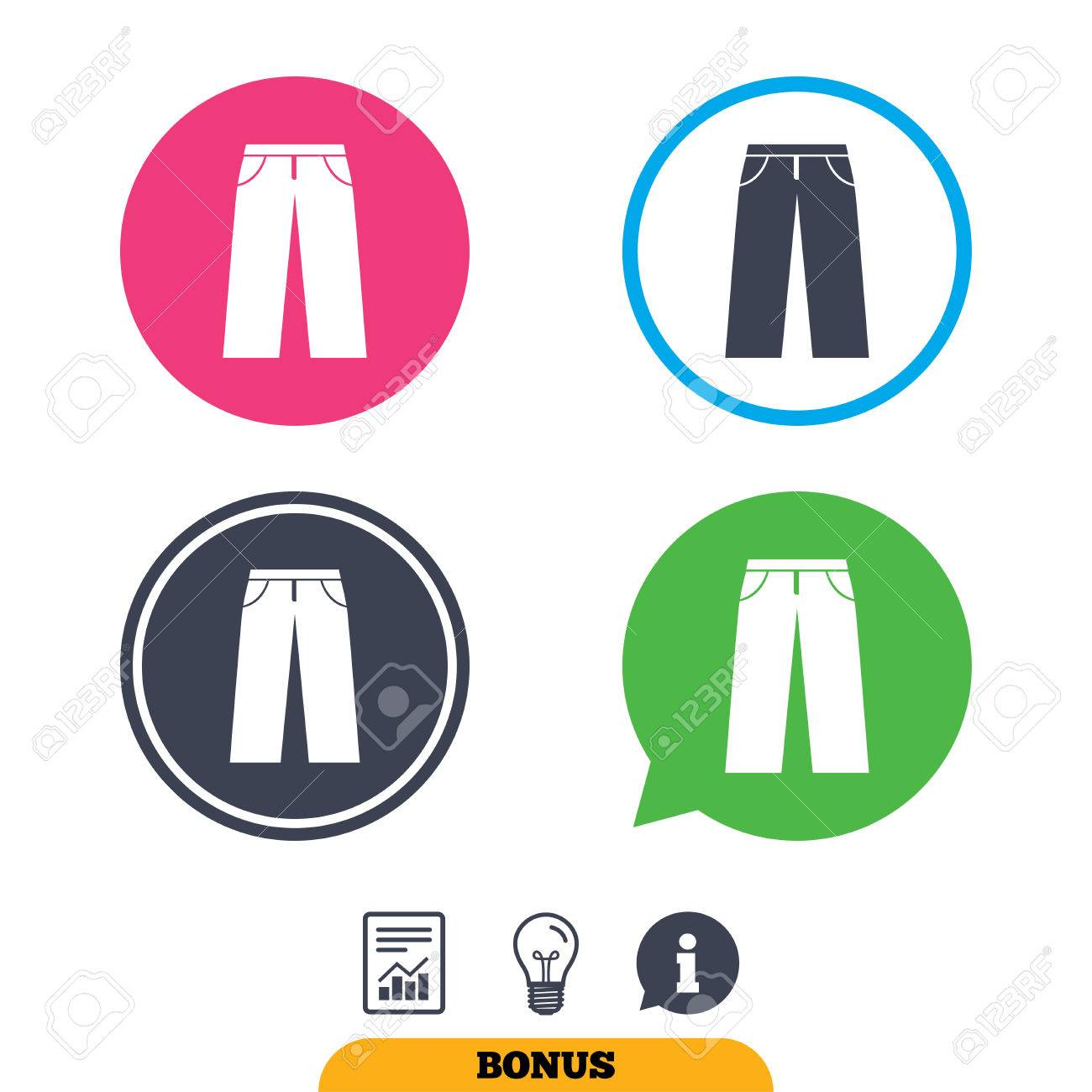 1300x1300 Men's Jeans Or Pants Sign Icon. Casual Clothing Symbol. Report