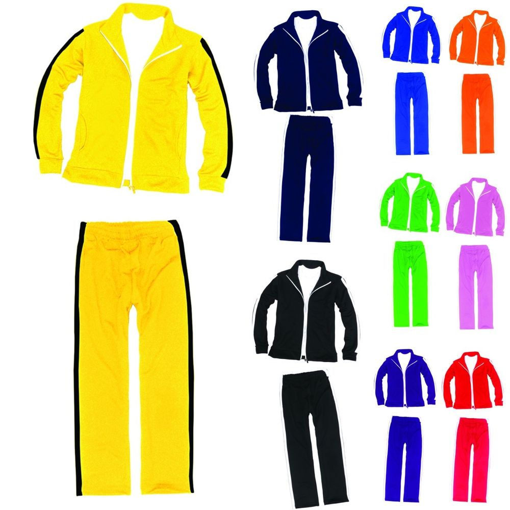 1000x1000 Mens Womens Running Jogging Track Suit Warm Up Pants Jackets Gym
