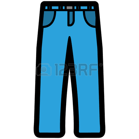 450x450 Vector Icon Of A Blue Jeans Shorts For Men Or Women In A Flat