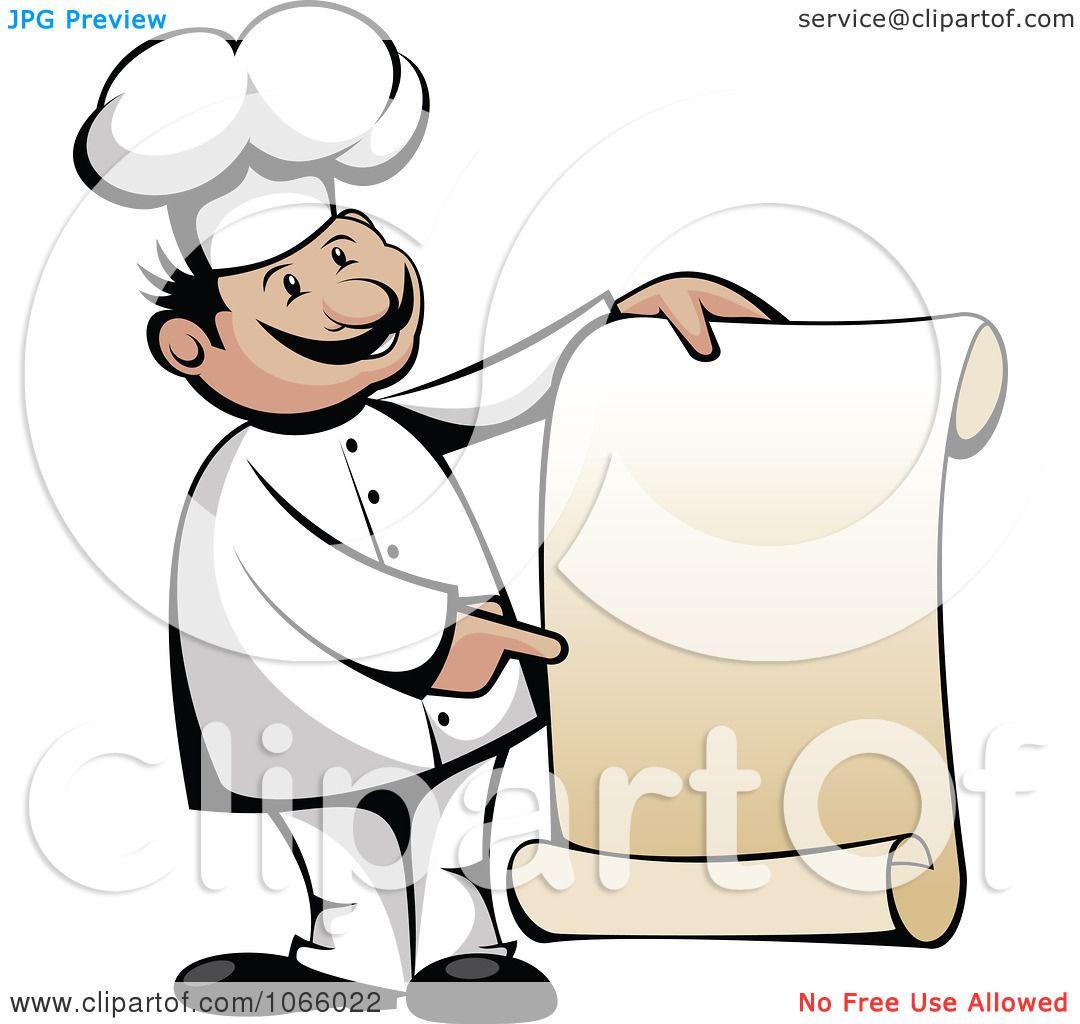 1080x1024 Chef With Menu Clip Art Cliparts