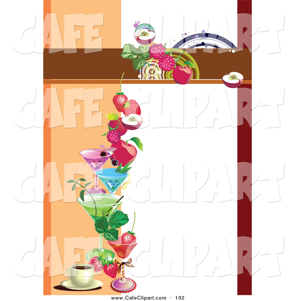 1024x1044 Vector Clip Art Of A Blank Menu Template With Fruity Drinks