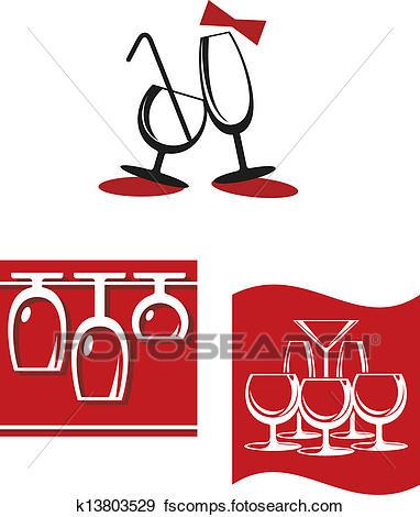 382x470 Clip Art Of Alcohol Glasses For Bar Menu Design K13803529